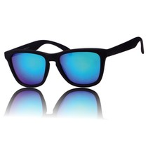 Zonnebril Zwart Groen Blauw Glas