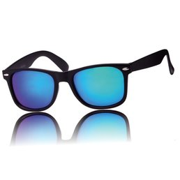 Zonnebril Wayfarer Mat Zwart II Groen Blauw