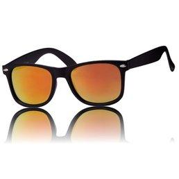 Wayfarer Mat Zwart Oranje Glazen