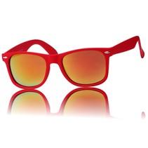 Matte zonnebril rood X
