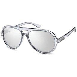 Grijze Retro zonnebril