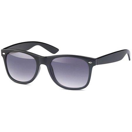 Zwarte Zonnebril met licht-donkere glazen