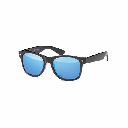 Zwarte Zonnebril Met Oceaan Blauwe Glazen