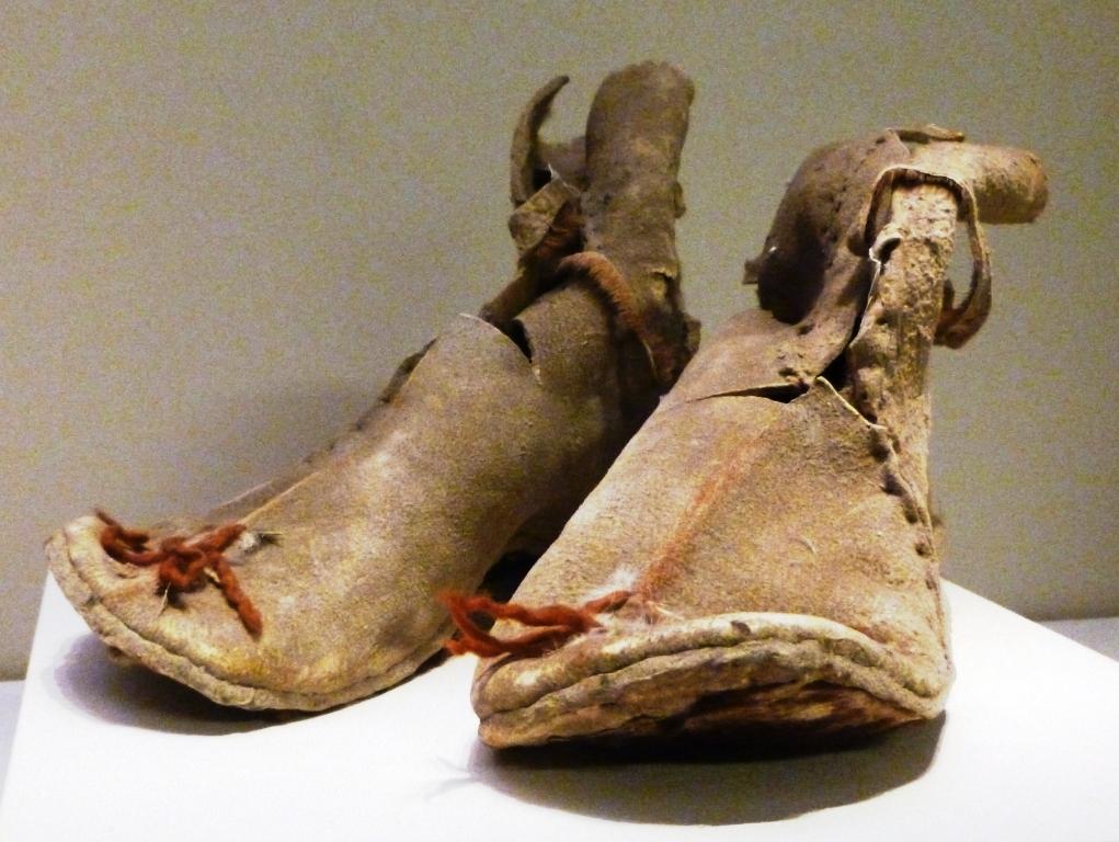 leren laarzen uit 220 v.Chr.