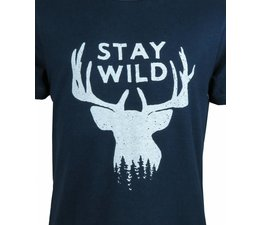 T-shirt Stay Wild blauw
