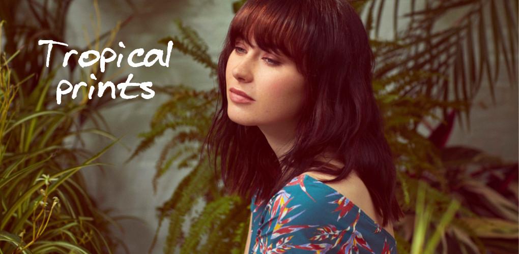kleding met tropische prints