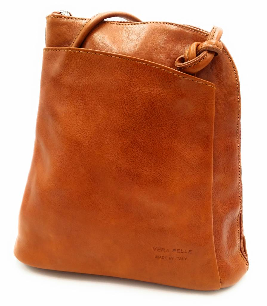 Best Manager Rz20015 Cognac Real Leather 2 In 1 Shoulder Bag