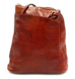 6c96cf21d973 Bestseller - RZ20015 - light brown - real leather - 2 in 1 - shoulder bag -  backpack - sturdy - high quality Italian leather light brown - Bestleder.com