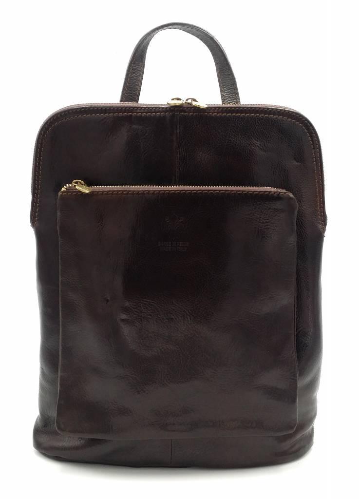 Bestseller - RZ30017 - dark brown - real leather - 2 in 1 ...