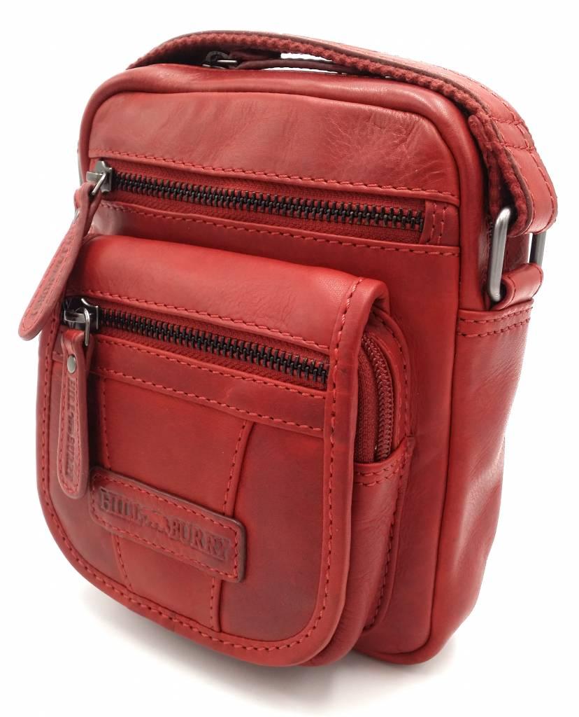 Hill Burry Hill Burry - VB10048 - 3112 - real leather - shoulder bag -  crossbodytas- firm - vintage leather - red - Bestleder.com 9c126d76b764f