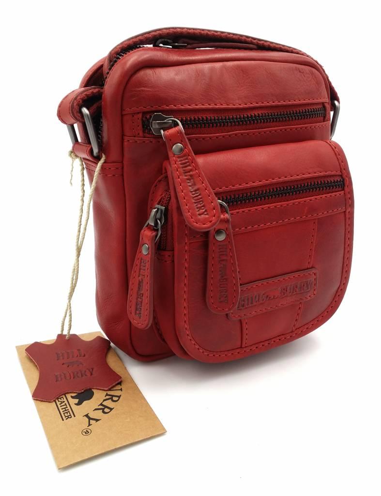 Hill Burry - VB10048 - 3112 - real leather - shoulder bag - crossbodytas-  firm - vintage leather - red 2c8b6dded9dc1
