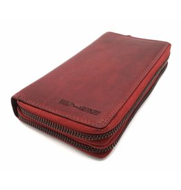 Hill Burry Hill Burry - VL777025 -3628- double zipper wallet - vintage  leather - 4c962b2a603a5