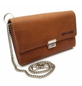 Hill Burry Hill Burry - VL777035 - 5077 - catering wallet - vintage leather-  brown ad73a3e654649