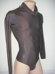 Bodysuit with loose turtleneck