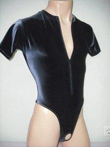 Male-Bodysuit Presenter with Zipper
