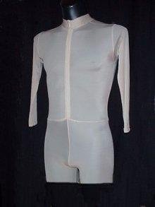 Body-Einteiler mit Hohem Kragen Reißverschluss vorn