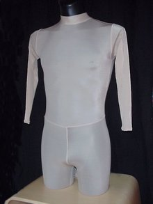 One-Piece with high neck and rear zipper