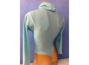 Bodysuit with loose turtleneck