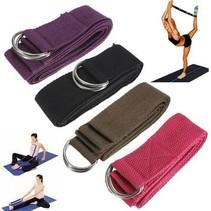6FT Yoga Stretch Strap D-ring