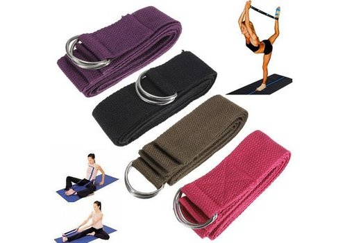 6FT Yoga Stretch Strap D-ring