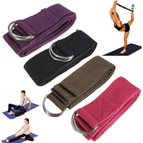 Huismerk 6FT Yoga Stretch Strap D-ring