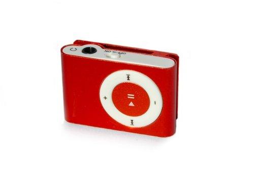 Huismerk Mini USB MP3 Music Media Player Rood