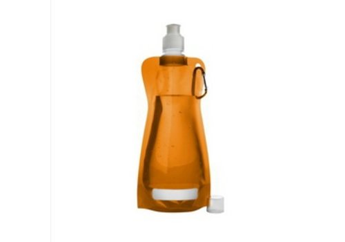 Huismerk Opvouwbare Drinkfles Oranje