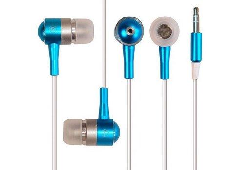 Metalen In-ear Oordopjes Universeel Blauw