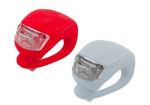 Silicone Fietslamp Wit met Wit licht