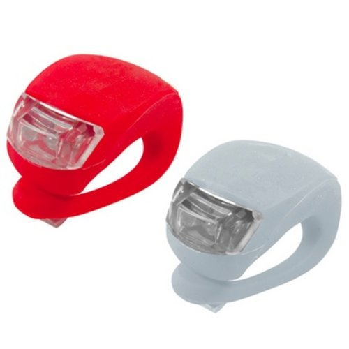 Huismerk Silicone Fietslamp Wit met Wit licht