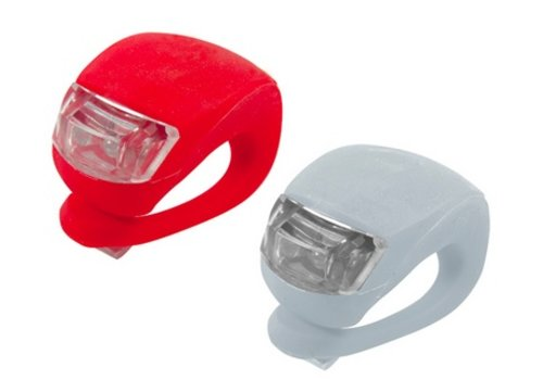 Silicone Fietslamp Rood met Rood licht