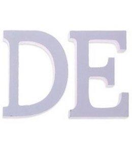 Huismerk Houten Decor Letter E