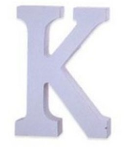 Huismerk Houten Decor Letter K