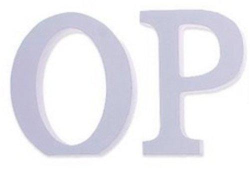 Huismerk Houten Decor Letter P