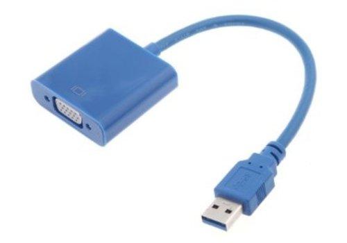 USB 3.0 naar VGA Kabel Adapter Blauw