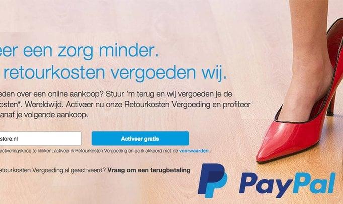 GRATIS Retourren via PayPal max 12 keer per jaar!