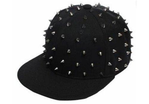 Spike Baseballcap Snapback Cap Zwart/Zilver