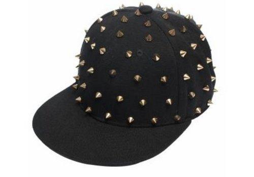 Spike Baseballcap Snapback Cap Zwart/Goud