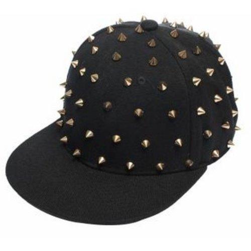 Huismerk Spike Baseballcap Snapback Cap Zwart/Goud