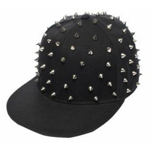 Huismerk Spike Baseballcap Snapback Cap Zwart/Gun