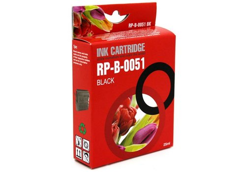 Huismerk Brother LC-970BK / LC-1000BK zwart Inktjet cartridge