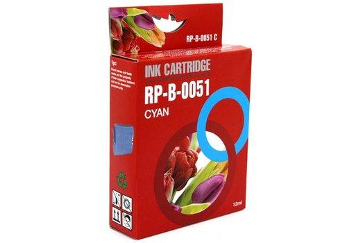 Huismerk Brother LC-970C / LC-1000C cyaan Inktjet cartridge