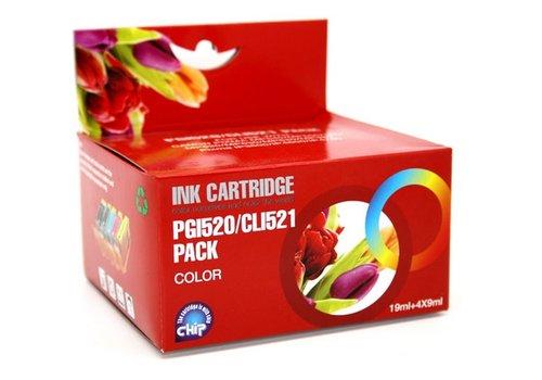 Huismerk Canon CLI-526, CLI521, PGI520 Multipack 5 stuks (Compatible)