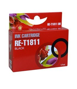 Huismerk Epson 18XL zwart Inktjet cartridge