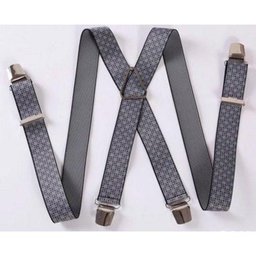 Huismerk Verstelbare Elastische Bretels Strepen Zwart/Grijs