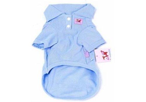 Huismerk Cotton Honden Polo M Blauw