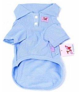 Huismerk Cotton Honden Polo S Blauw