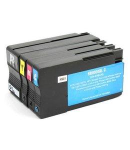 Huismerk HP 950XL / 951XL zwart en kleur Inktjet cartridge 4 stuks