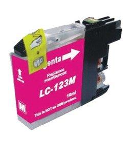 Huismerk Brother LC-123M Magenta Inktjet cartridge