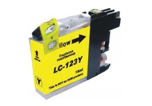 Huismerk Brother LC-123Y Geel Inktjet cartridge